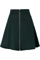 Sandro Jagg Stretch Cotton Blend Skirt Emerald