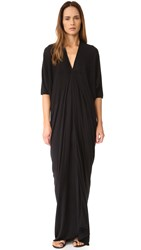 Rick Owens Short Sleeve Gown Black