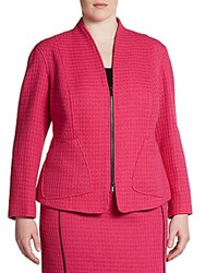 Lafayette 148 New York Plus Size Boucle Jacket Pink