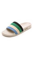 Msgm Striped Pool Slides Multi