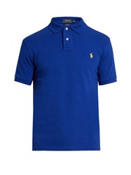 Polo Ralph Lauren Slim Fit Cotton Pique Shirt Blue
