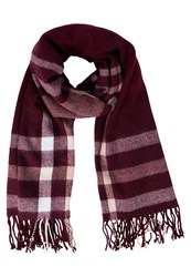 Miss Selfridge Scarf Burgundy Dark Red