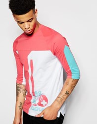 Pink Dolphin 3 4 Sleeve T Shirt With Ball Print White