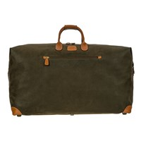 Bric's Life Clipper Holdall Olive Tan Large