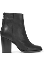 Rag And Bone Ashby Leather Ankle Boots Black