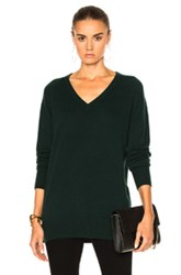 Equipment Asher V Neck Sweater In Green
