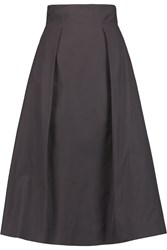 Golden Goose Pleated Poplin Skirt Blue