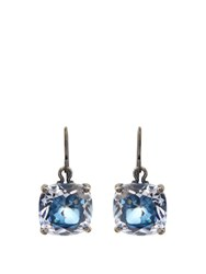 Bottega Veneta Cubic Zirconia And Silver Drop Earrings Blue