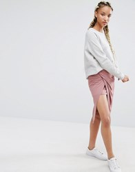 Pixie And Diamond Pencil Skirt Mauve Purple