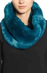 Badgley Mischka Women's Faux Chinchilla Neck Warmer Moroccan Blue