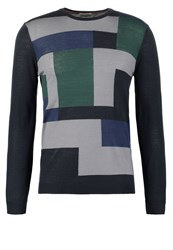 United Colors Of Benetton Jumper Blue Grey Blue Grey