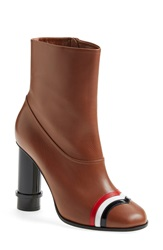 Loewe Column Ankle Boot Women Caramel Leather