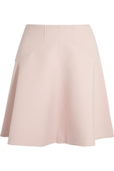 Lela Rose Paneled Cotton Blend Crepe Fluted Skirt