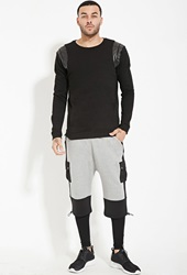 Forever 21 Unknown Neoprene Jogger Shorts Grey