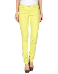 Morgan Denim Pants Acid Green