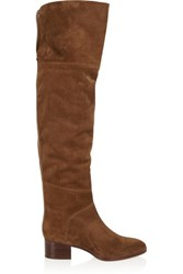 Chloe Suede Over The Knee Boots Chocolate