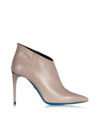 Loriblu Dove Leather Pointed Ankle Boot Gray