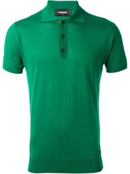 Dsquared2 Classic Polo Jumper Green