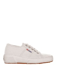 Superga Canvas Wedge Sneakers White
