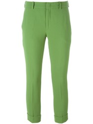 L'autre Chose Cropped Trousers Green