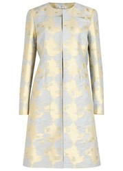 Paule Ka Light Blue Jacquard Coat