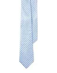 Lauren Ralph Lauren Striped Silk Tie Blue
