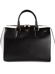 Serapian Contrast Panel Tote Black