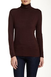 In Cashmere Long Sleeve Turtleneck Tee Brown