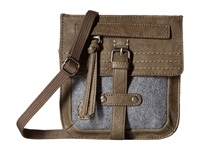 Sherpani Piper Mini Crossbody Wool Cross Body Handbags Taupe