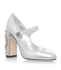 Dolce And Gabbana Chronological Mary Jane Shoes Female Silver
