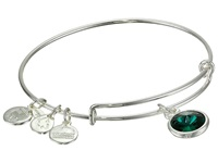 Alex And Ani May Birthstone Charm Bangle Rafaelian Silver Finish Bracelet