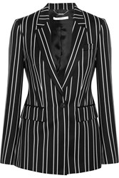 Givenchy Blazer In Black And White Striped Wool Jacquard