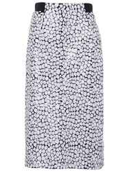 French Connection Sequin Skirt White Black