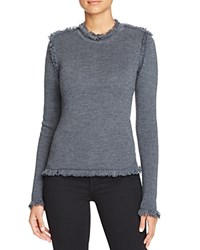 Michael Michael Kors Fringed Crewneck Sweater Derby