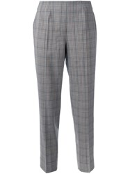 Piazza Sempione Checked Trousers Grey