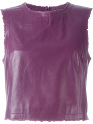 Drome Leather Tank Top Pink And Purple