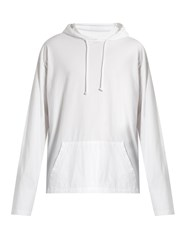 Vetements Hooded Long Sleeved T Shirt White Multi