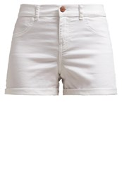 Noisy May Nmparis Denim Shorts Bright White White Denim
