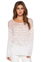 525 America Stripe Boat Neck Longsleeve Top Blush