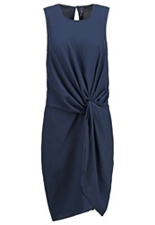 Y.A.S Yas Yascami Cocktail Dress Party Dress Navy Dark Brown