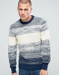 Pepe Jeans Stripe Knit Jumper Wide Ombre Blue 0Aa Multi