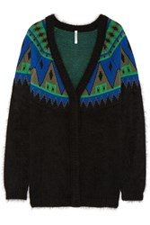 Finds Aimo Richly Angora And Wool Blend Cardigan Black