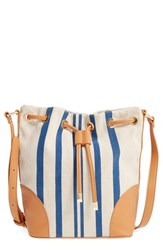 Shiraleah 'Mistral' Stripe Canvas Bucket Bag