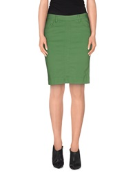 Twin Set Simona Barbieri Knee Length Skirts Green