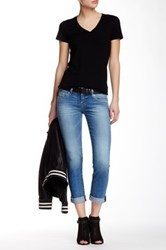 Hudson Jeans Ginny Straight Ankle Cuffed Jean Blue