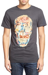 Dedicated 'Paper Skull' Organic Cotton Graphic T Shirt Charcoal