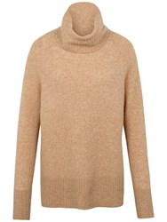 Fat Face Rochester Roll Neck Jumper Sand