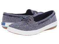 Keds Glimmer Boat Navy Denim Women's Lace Up Casual Shoes Blue