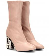 Acne Studios Odessa Leather Boots Pink