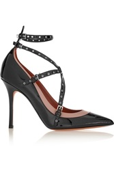 Valentino Love Latch Eyelet Embellished Patent Leather Pumps